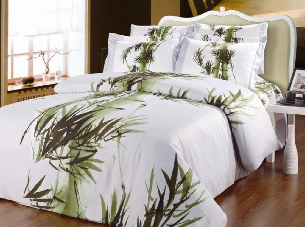 postelnoe bele bambuc